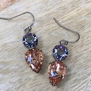 Sorrelli Lilac & Apricot Crystal Earring,NWT